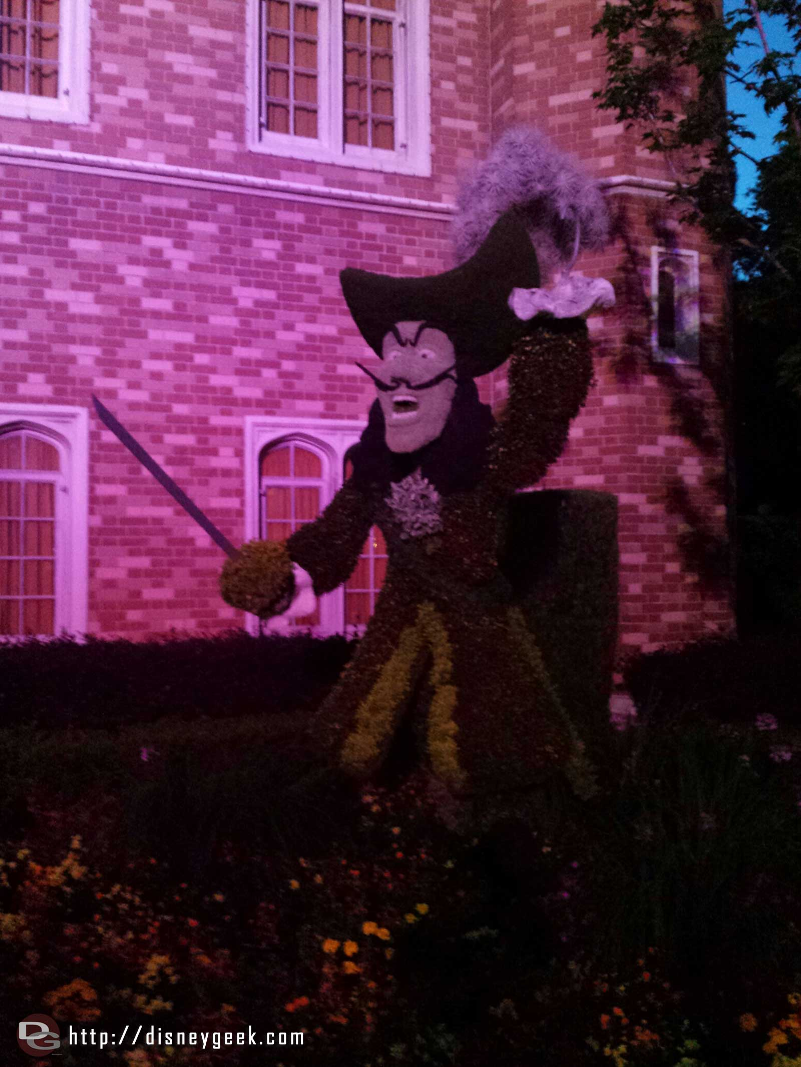 Captain Hook topiary in the UK     –  Epcot International Flower & Garden Festival