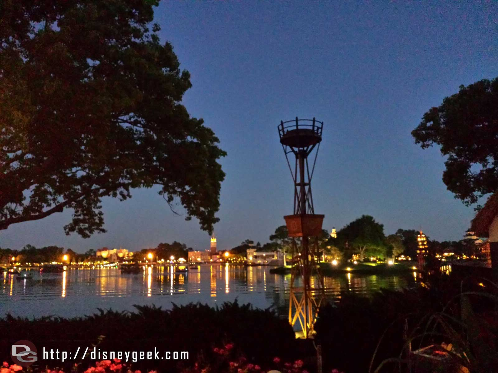 World Showcase Lagoon #Epcot … of course the torch I stop by for the lighting did not light