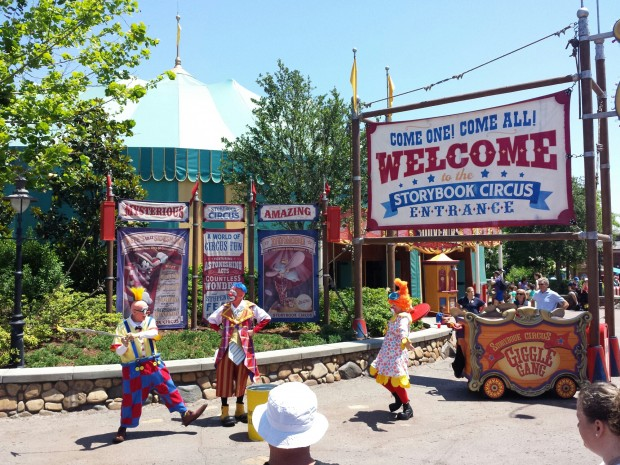 The Giggle Gang out front of Storybook Circus
