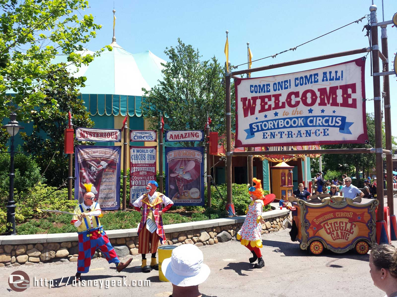 The Giggle Gang in front of Storybook Circus