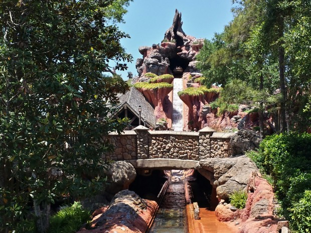 Passing by Splash Mountain at the Magic Kingdom