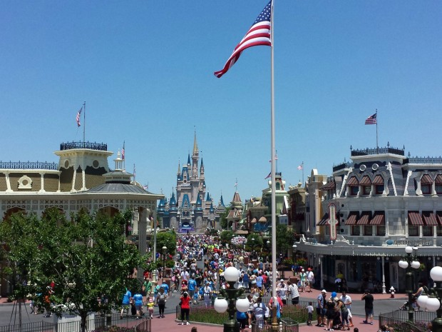 One last look up Main Street USA at the Magic Kingdom before leaving