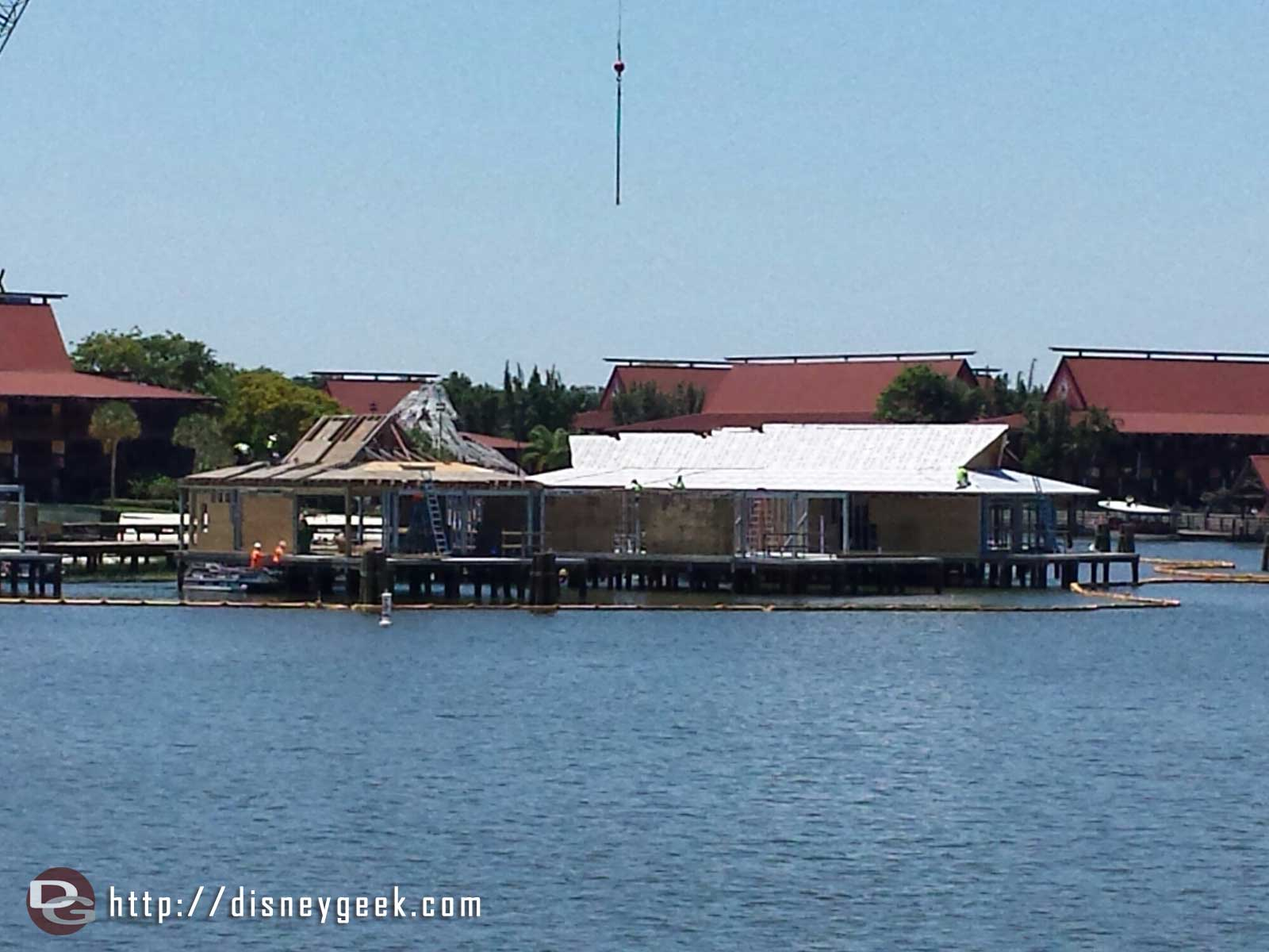 The Polynesian DVC construction from the Ferry