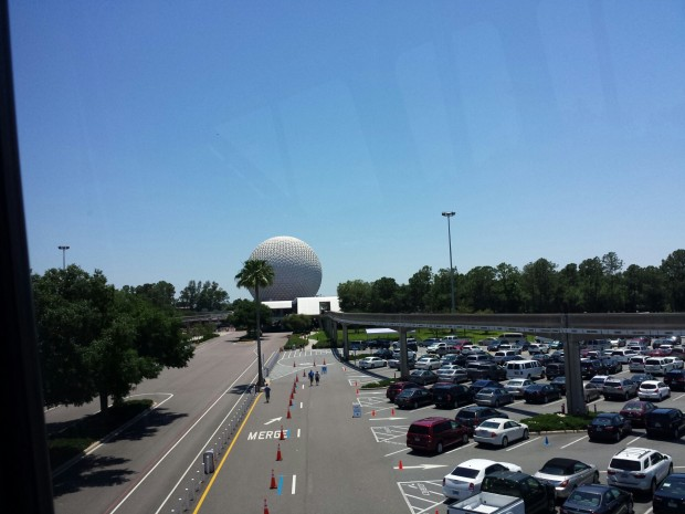 Arriving at Epcot via Monorail