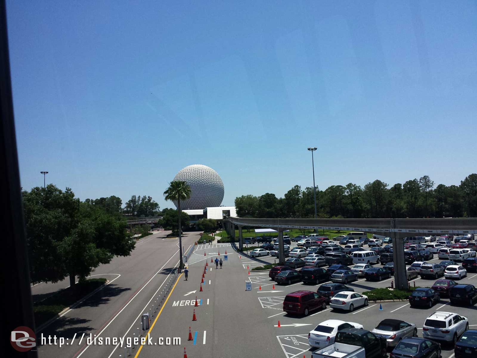 Arriving at #Epcot via Monorail #WDW