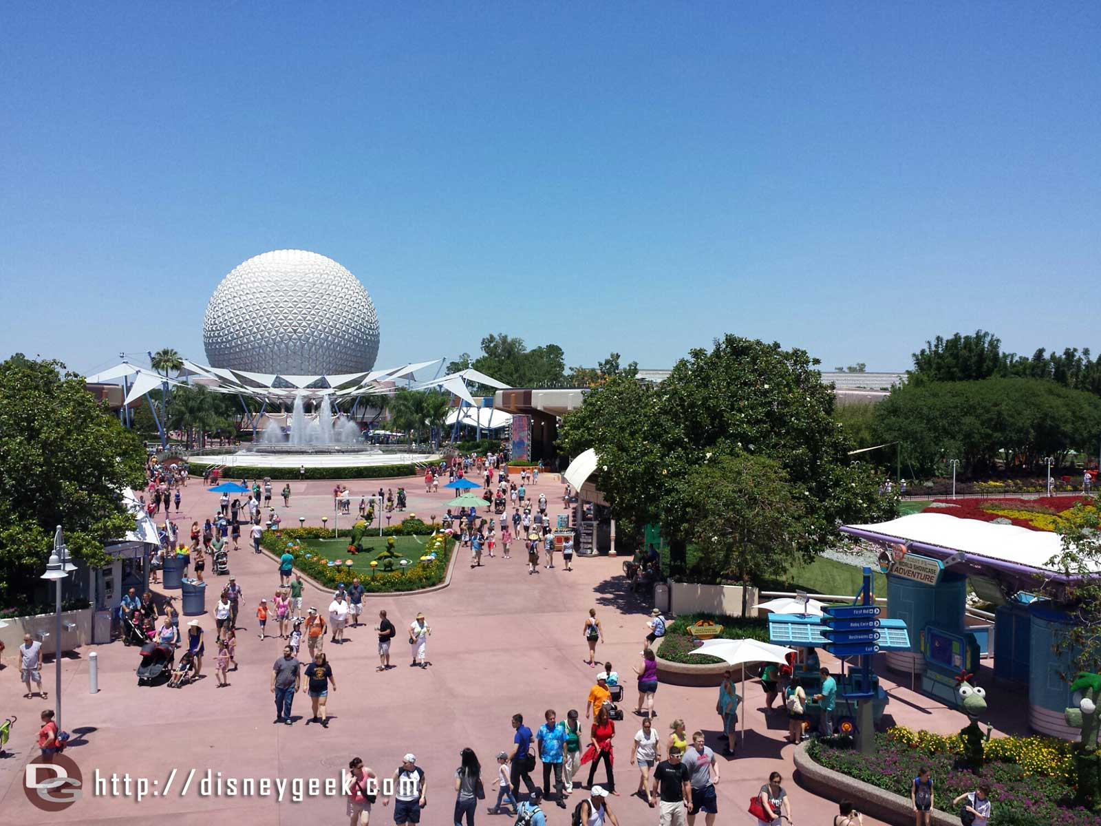 Future World from the Monorail #Epcot