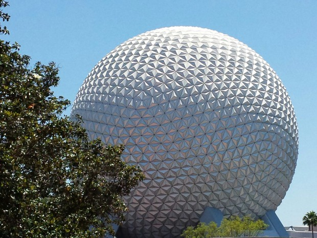 One last look at Spaceship Earth before heading for Kidani and home