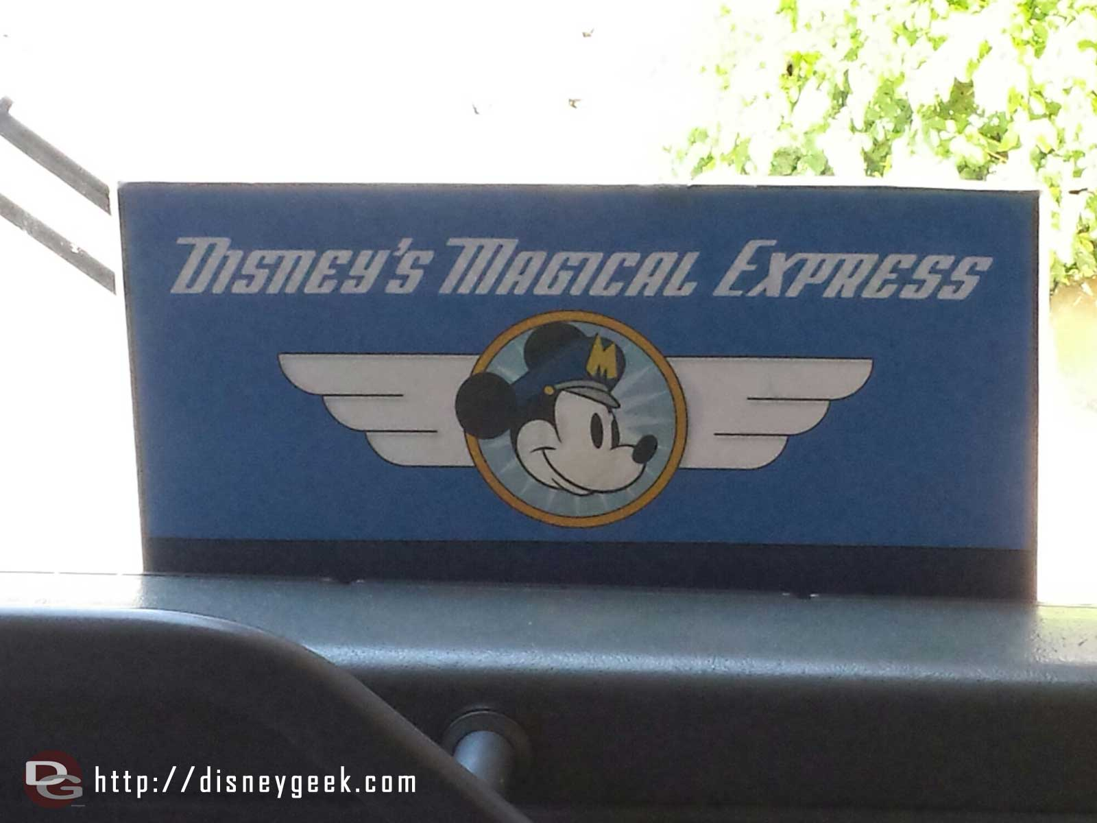 Time to head for the airport and home on Disney's Magical Express