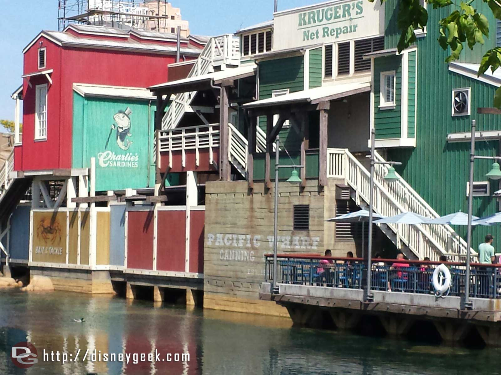 A better picture of the recently repainted Wharf area