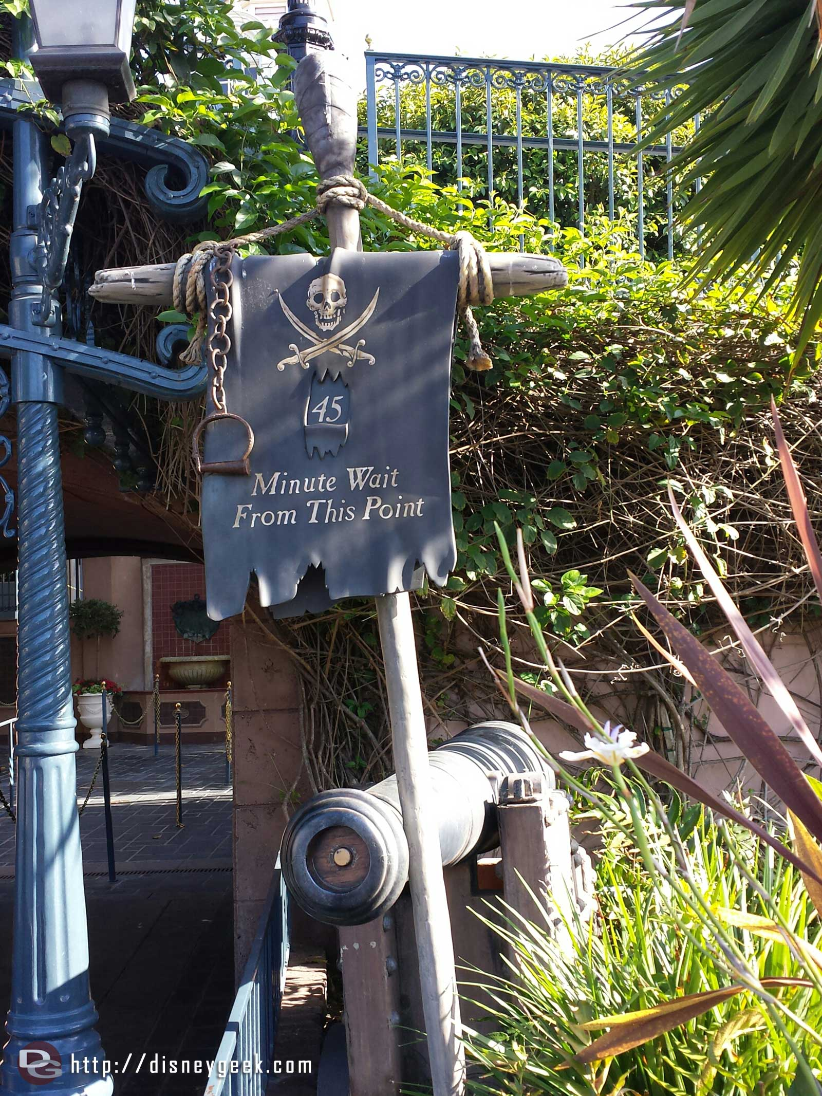 Pirates has a sign posted at 45 min.. but it will be closed for weeks still.. oops.