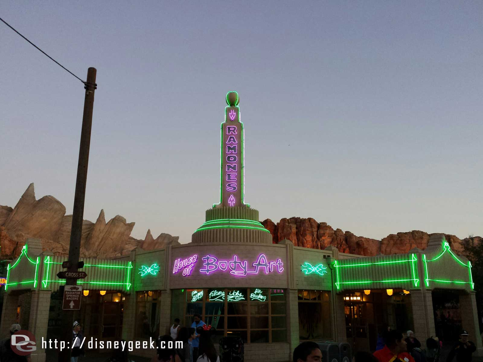 Ramones House of Body Art #CarsLand #neon