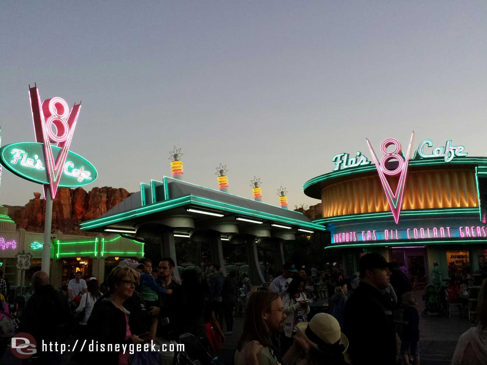 Flos V8 Cafe #CarsLand #neon