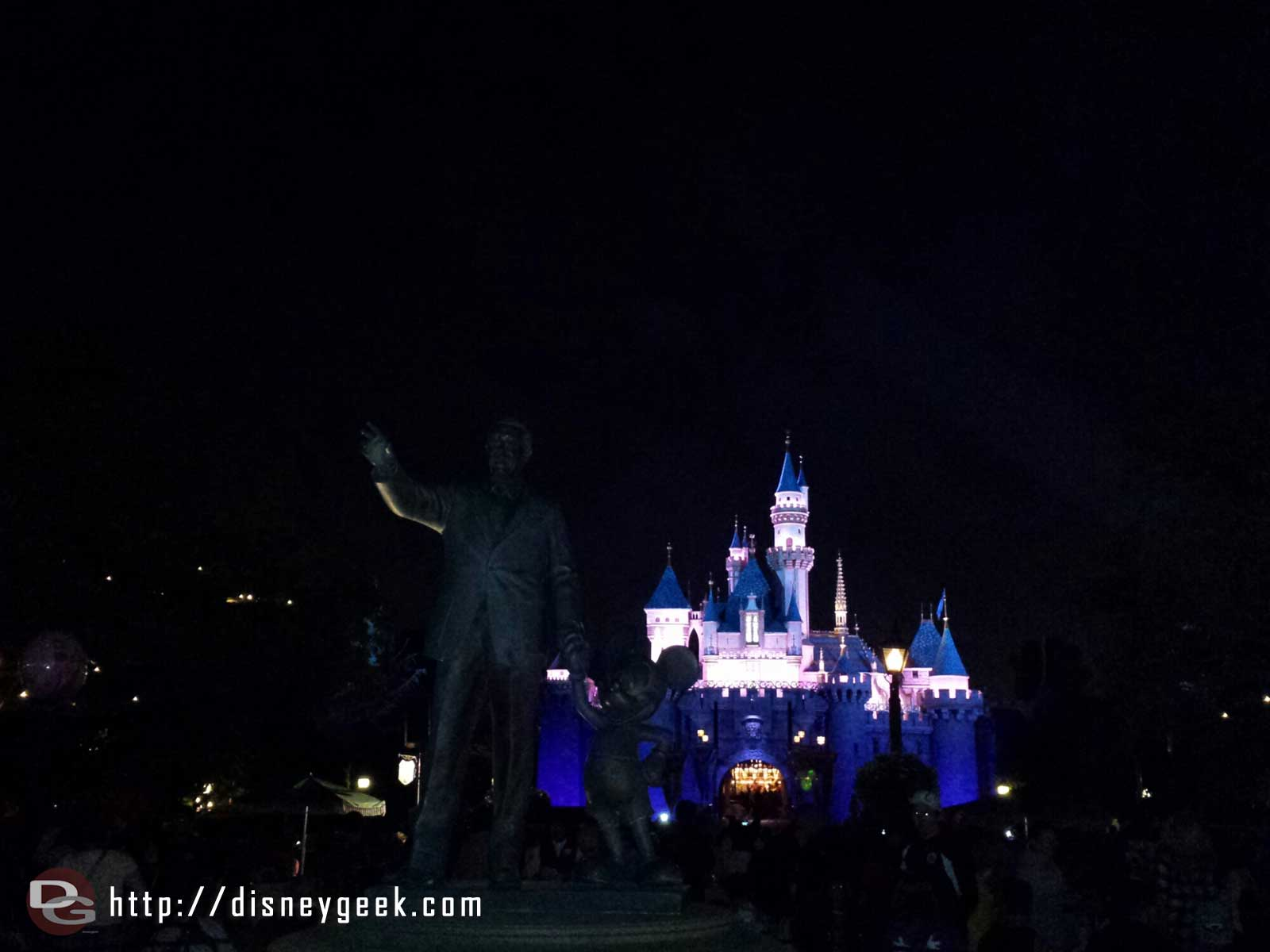 Sleeping Beauty Castle this evening and Partners in the foreground