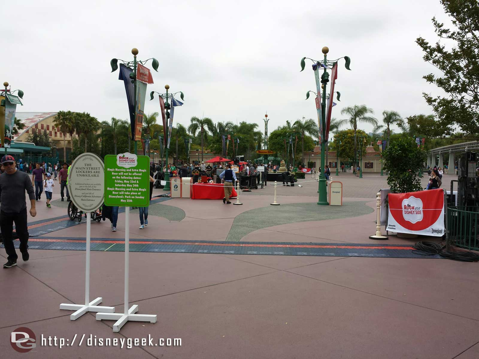 Just arrived at the #Disneyland Resort.  The Esplanade is being cleaned up after this mornings festivities