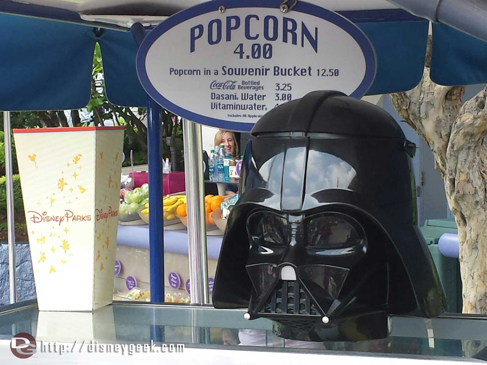 Darth Vader popcorn buckets are now available for $12.50