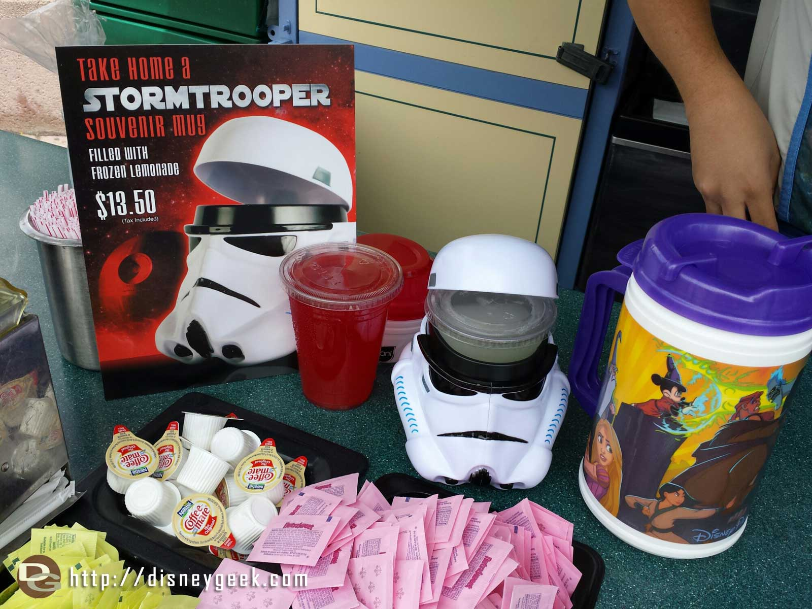 Stormtrooper mugs in Tomorrowland