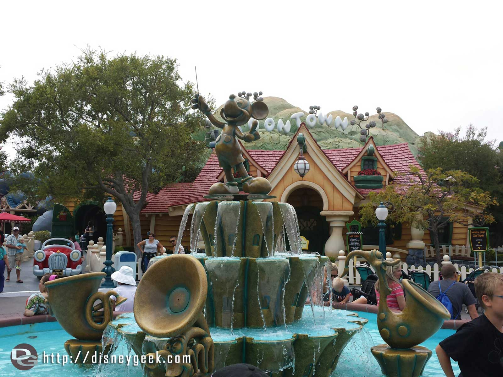 The other, Mickey, fountain work is complete too