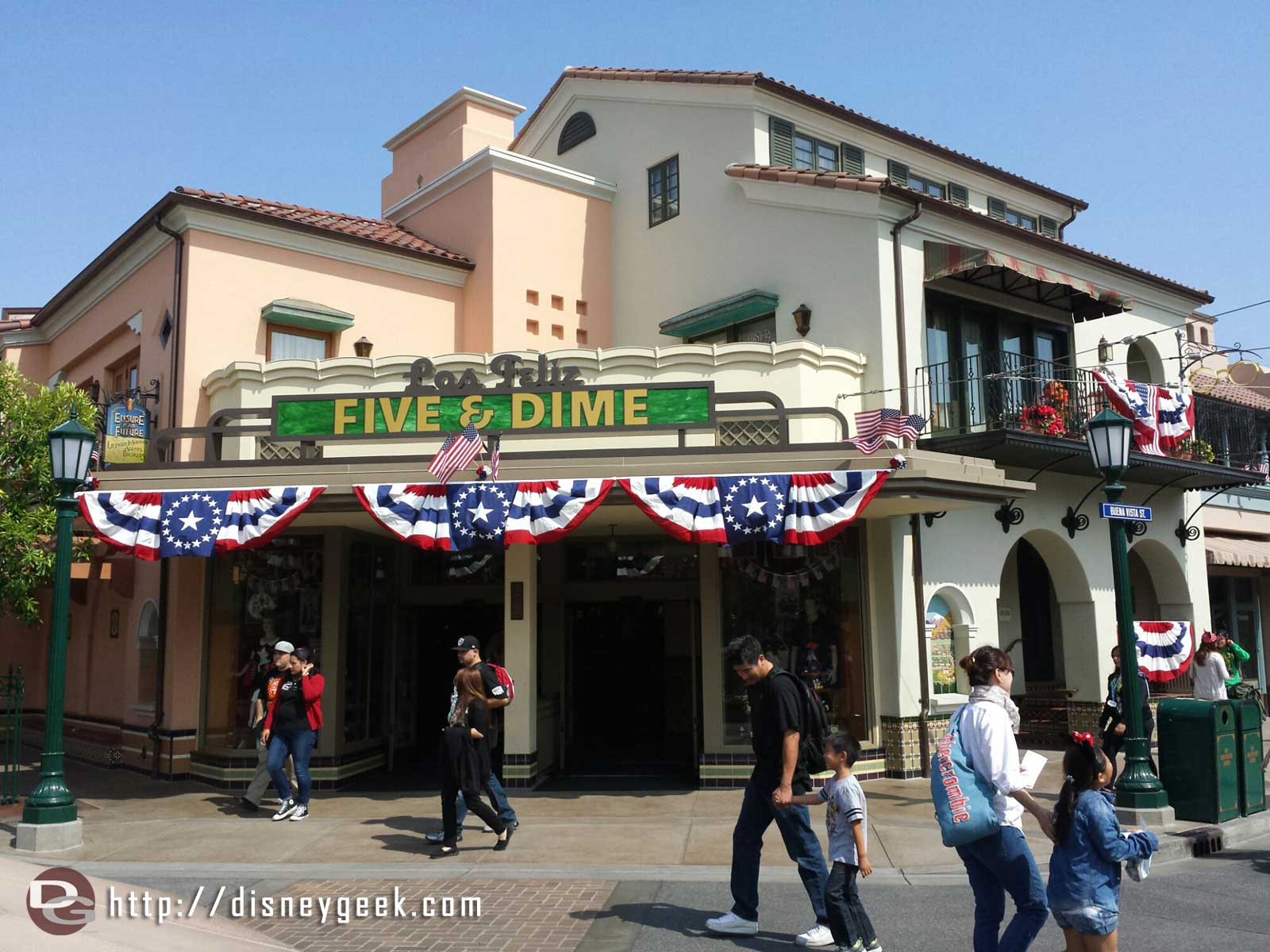 #BuenaVistaStreet is decked out in its summer red, white and blue