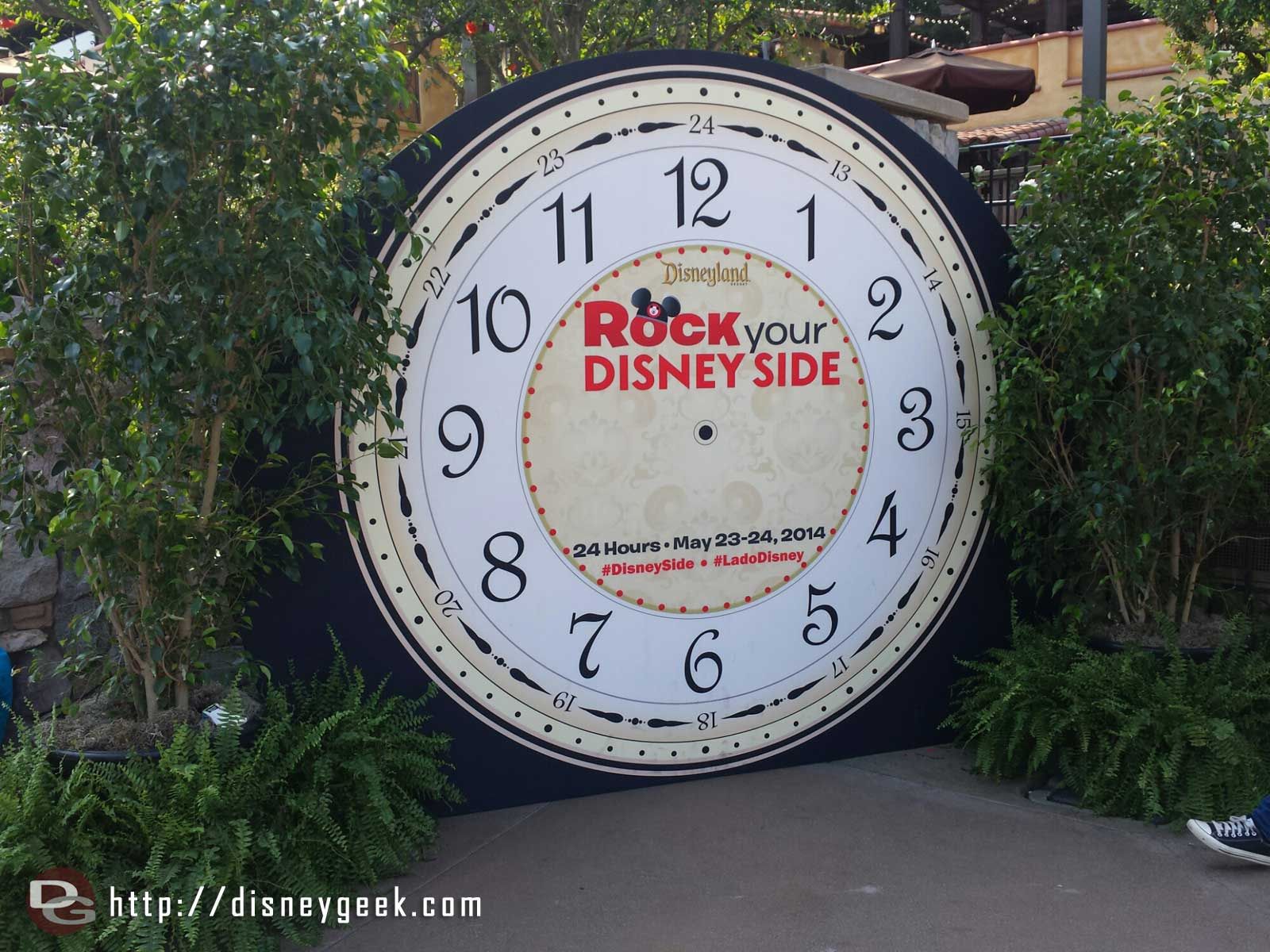 A large clock photo op near the Blue Sky Cellar #Disney24  #DisneySide