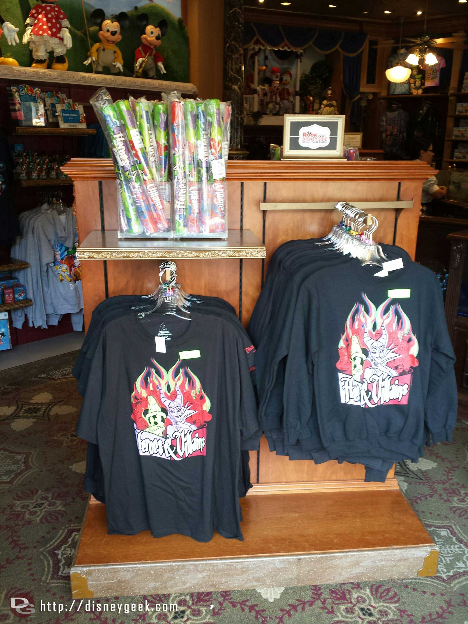 Heroes & Villains commemorative shirts #Disney24  #DisneySide