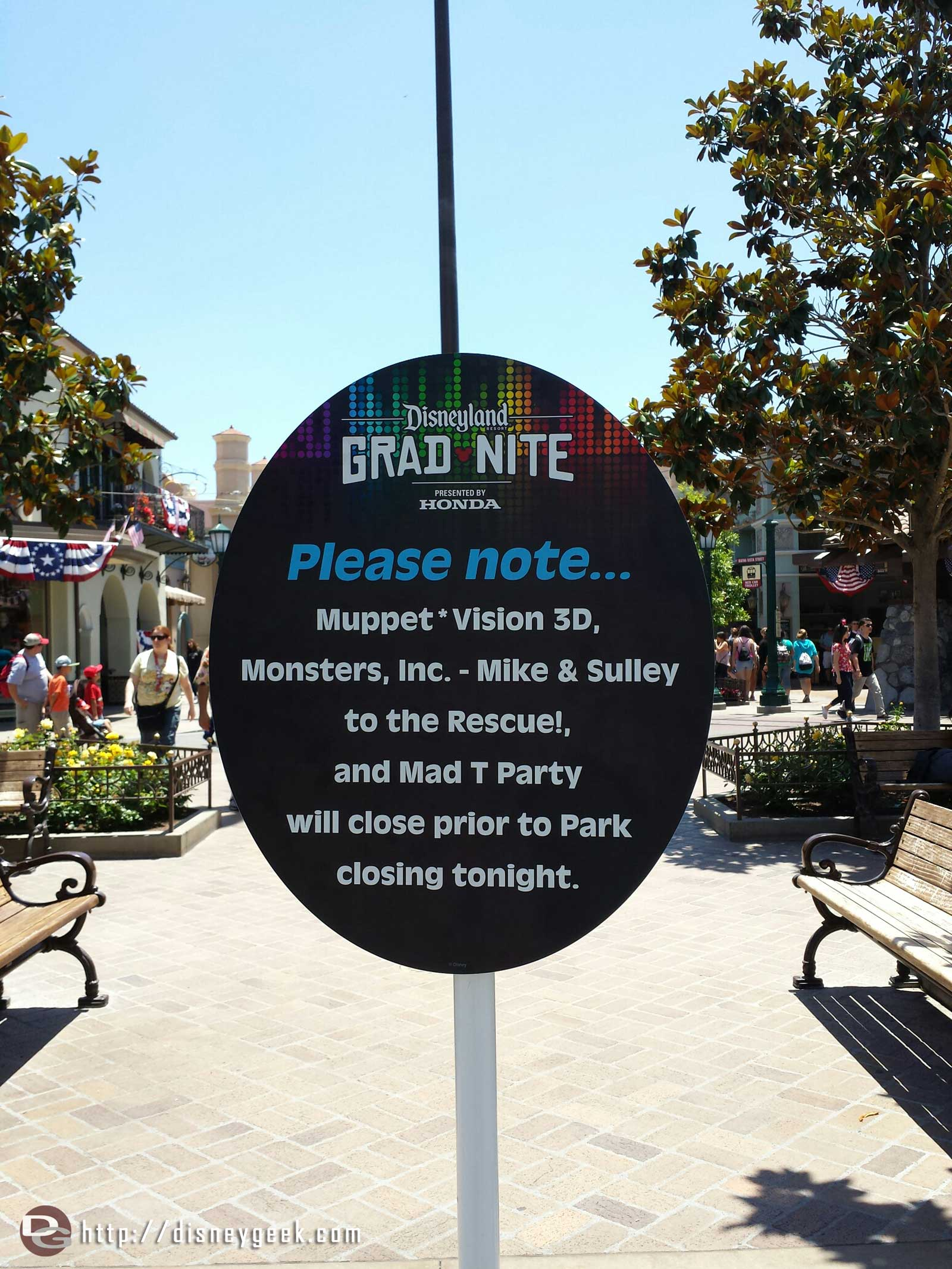 Tonight is a gradnite some attractions have reduced hours