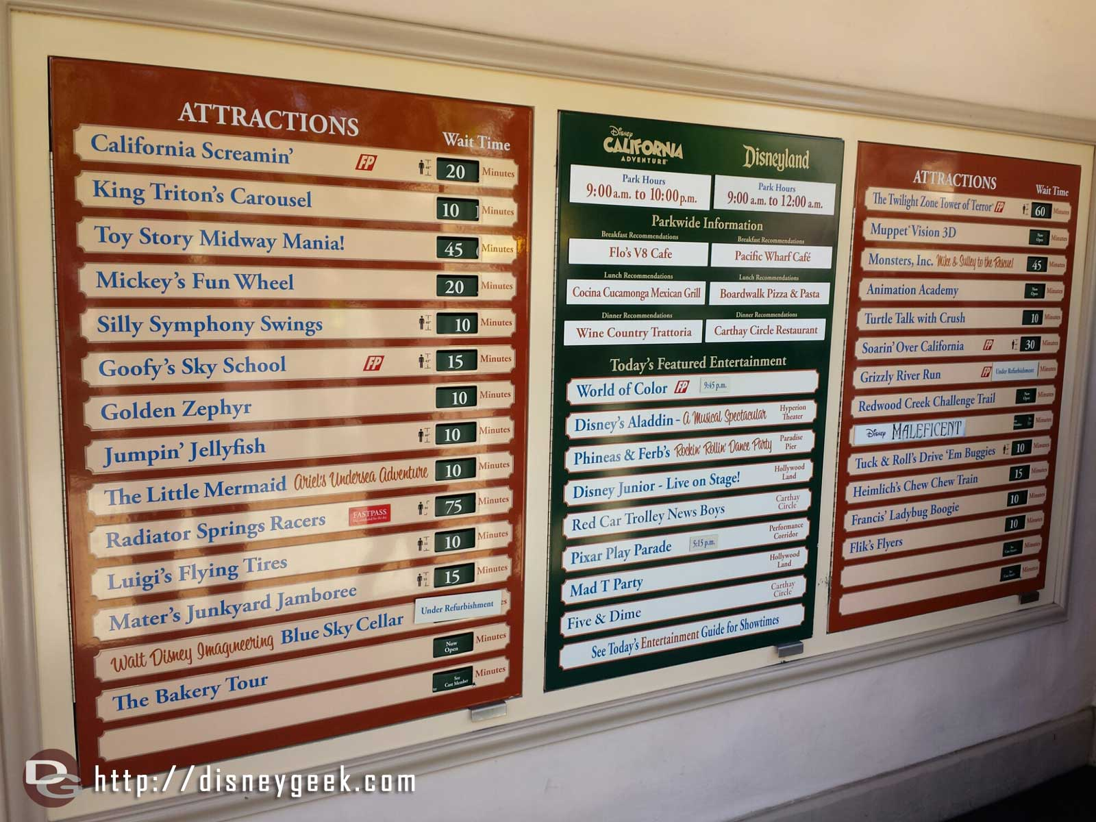 Current DCA waits as of 1:20pm