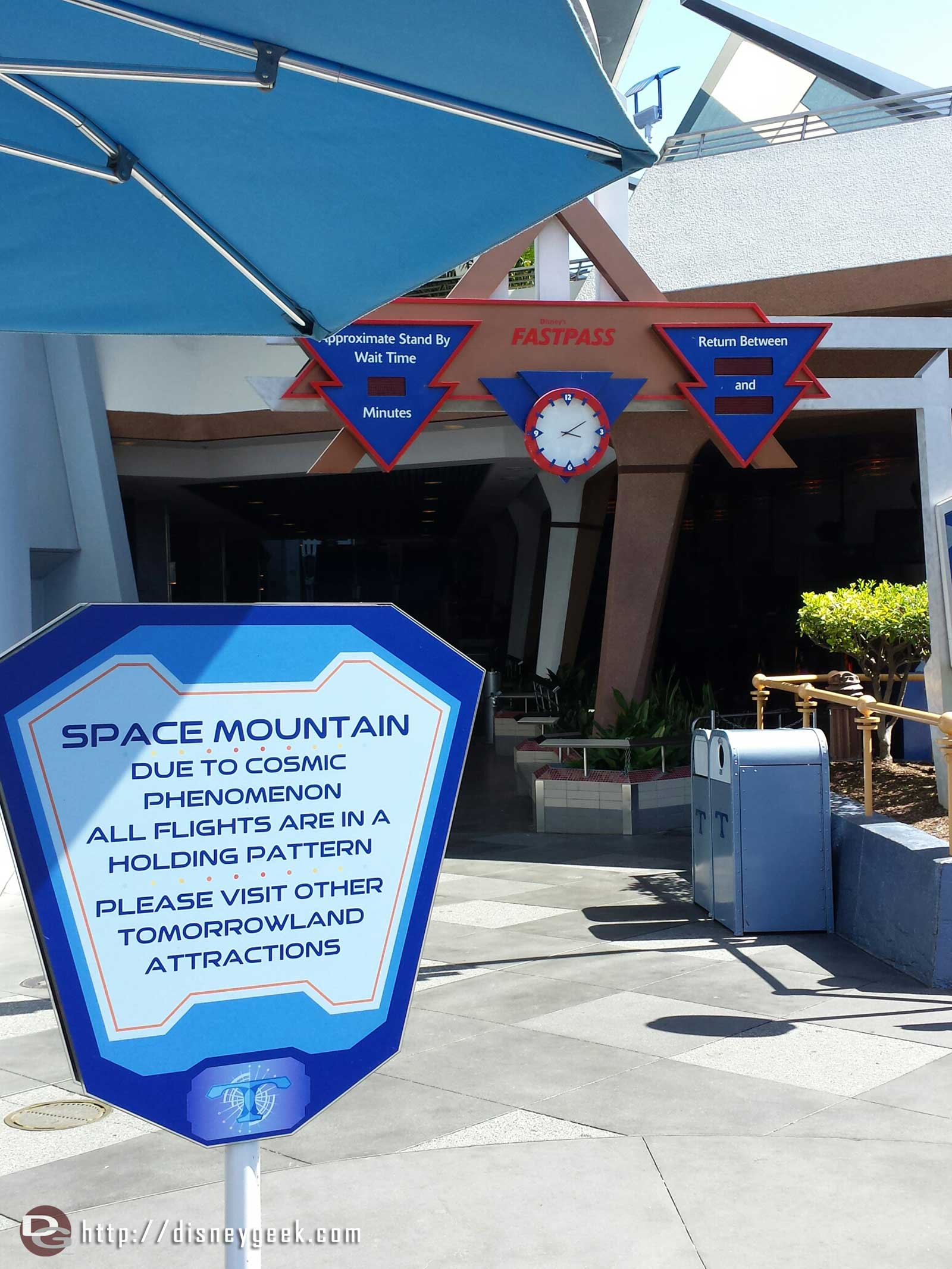 Space Mountain is closed until July