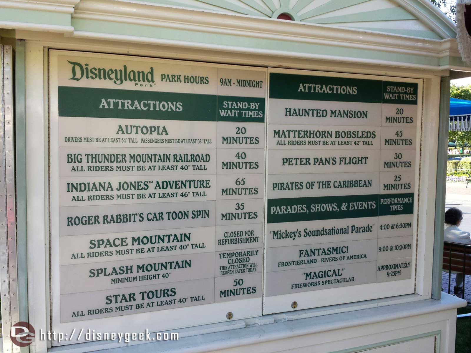 #Disneyland waits as of 5:45pm