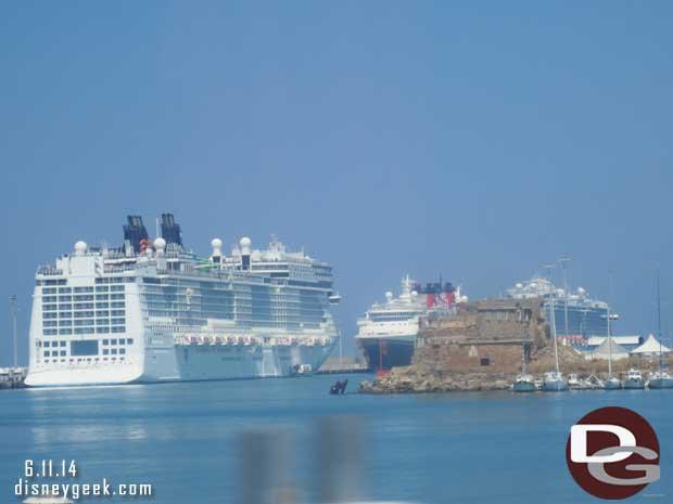 Disney Magic docked in Civitavecchia (Rome), Italy