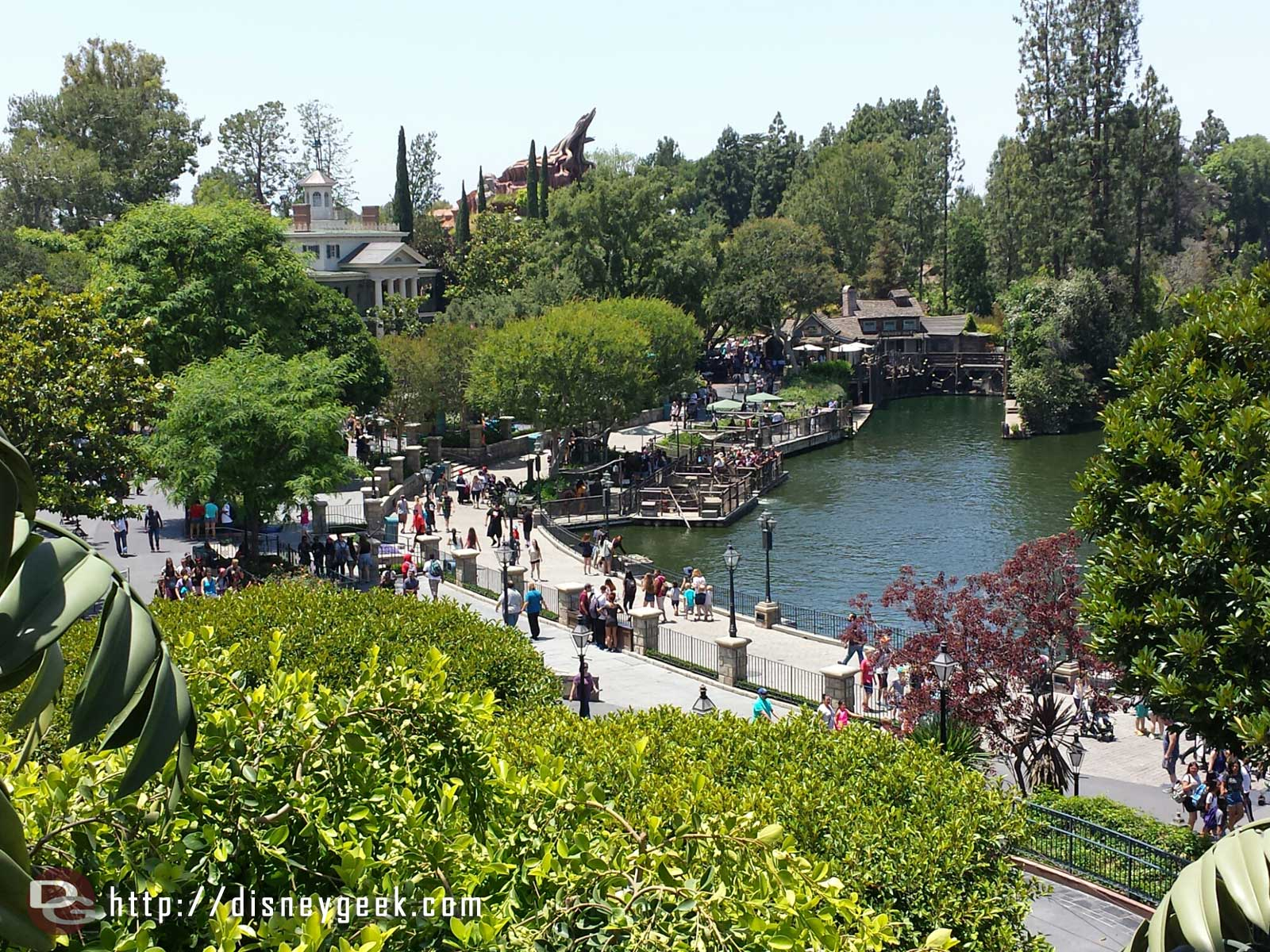 The Rivers of America from Tarzan's Treehouse