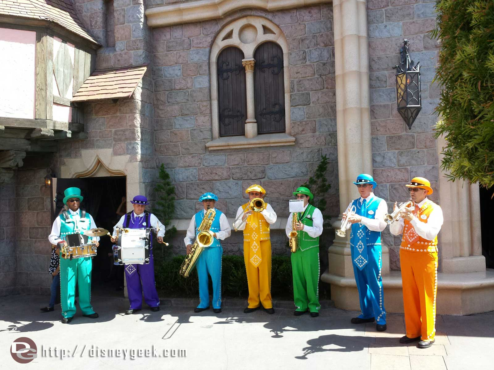 The Pearly Band performing in #Fantasyland #Disneyland