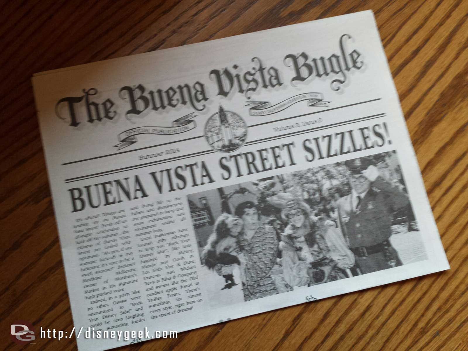 The summer issue of the Buena Vista Bugle is out this week.