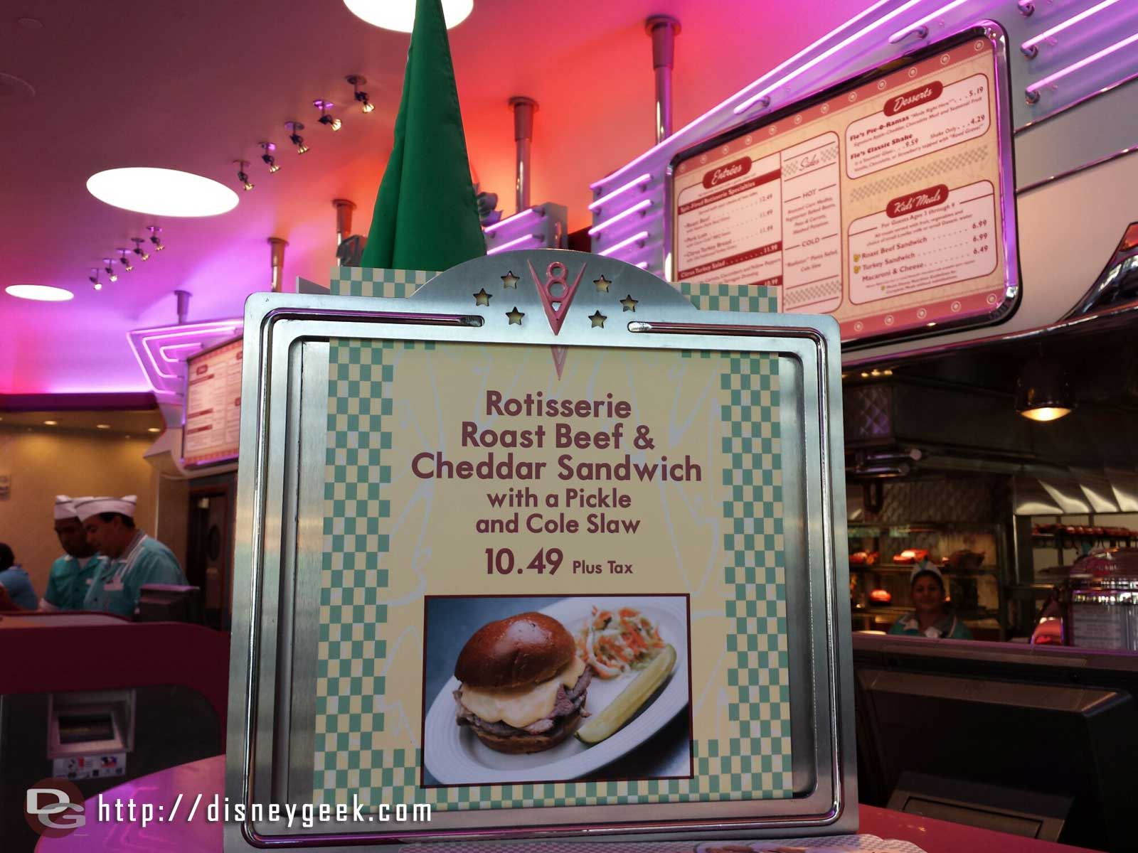Is this a new item or just sign at Flo's?  Rotisserie Roast Beef & Cheddar Sandwich #CarsLand