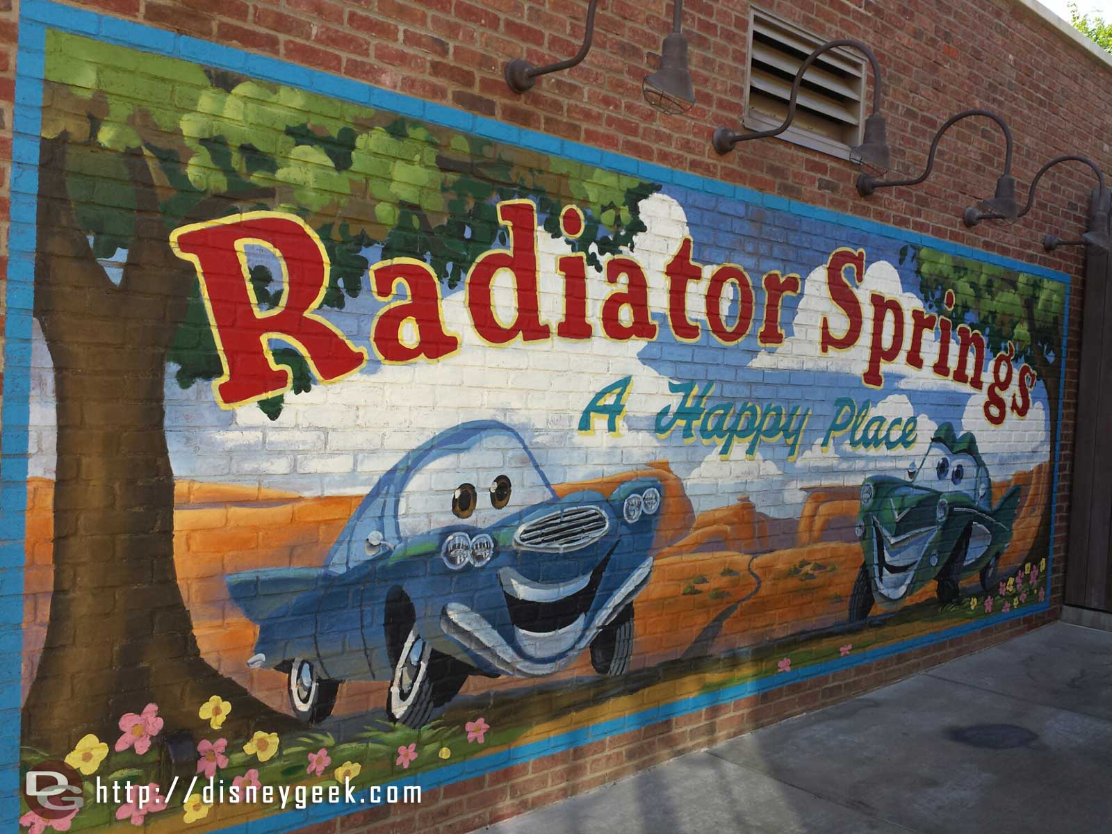 Radiator Springs A Happy Place sign #CarsLand