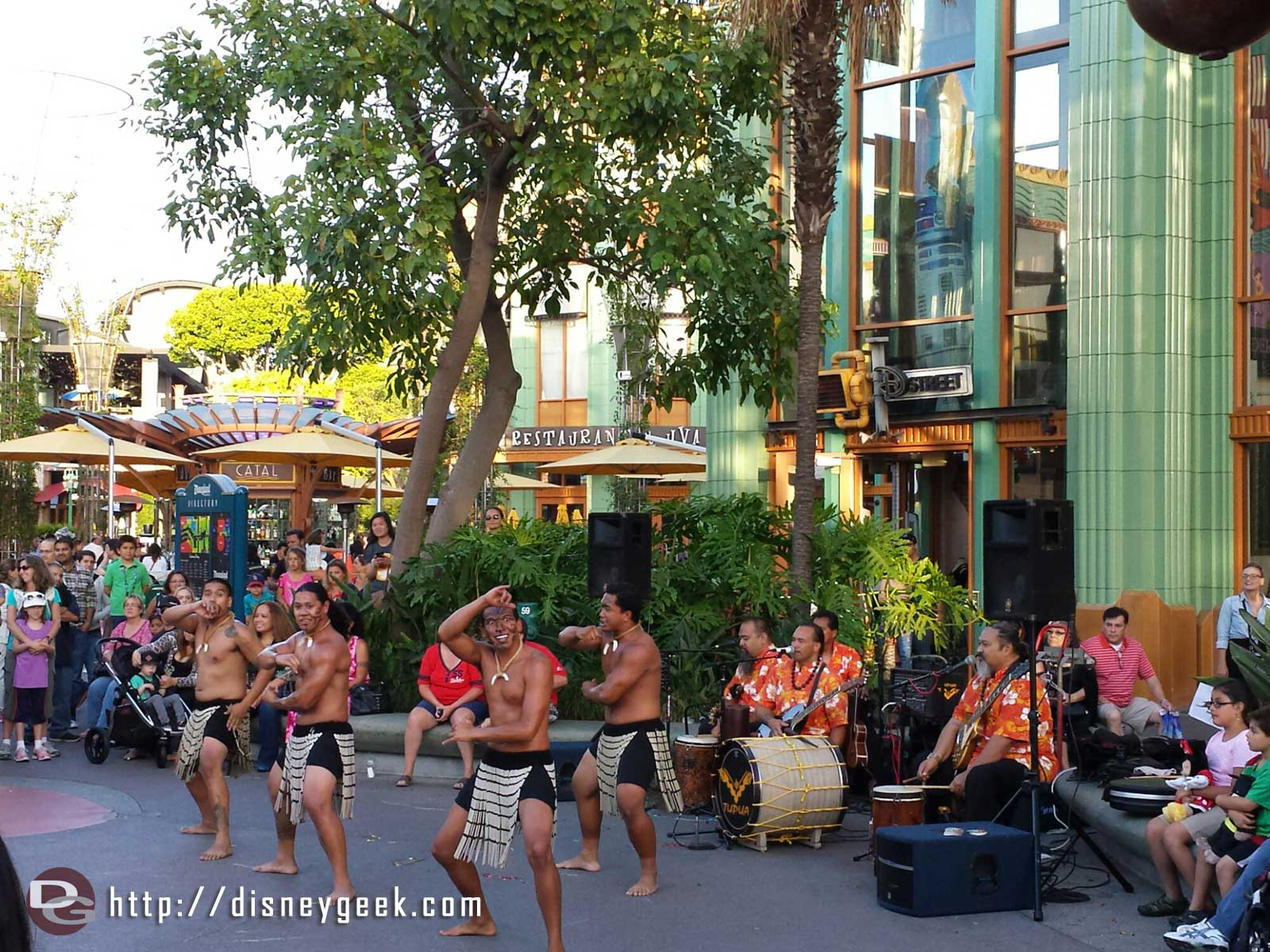 Hawaiian & Tahitian dances are part of the Summer Celebration at Downtown Disney