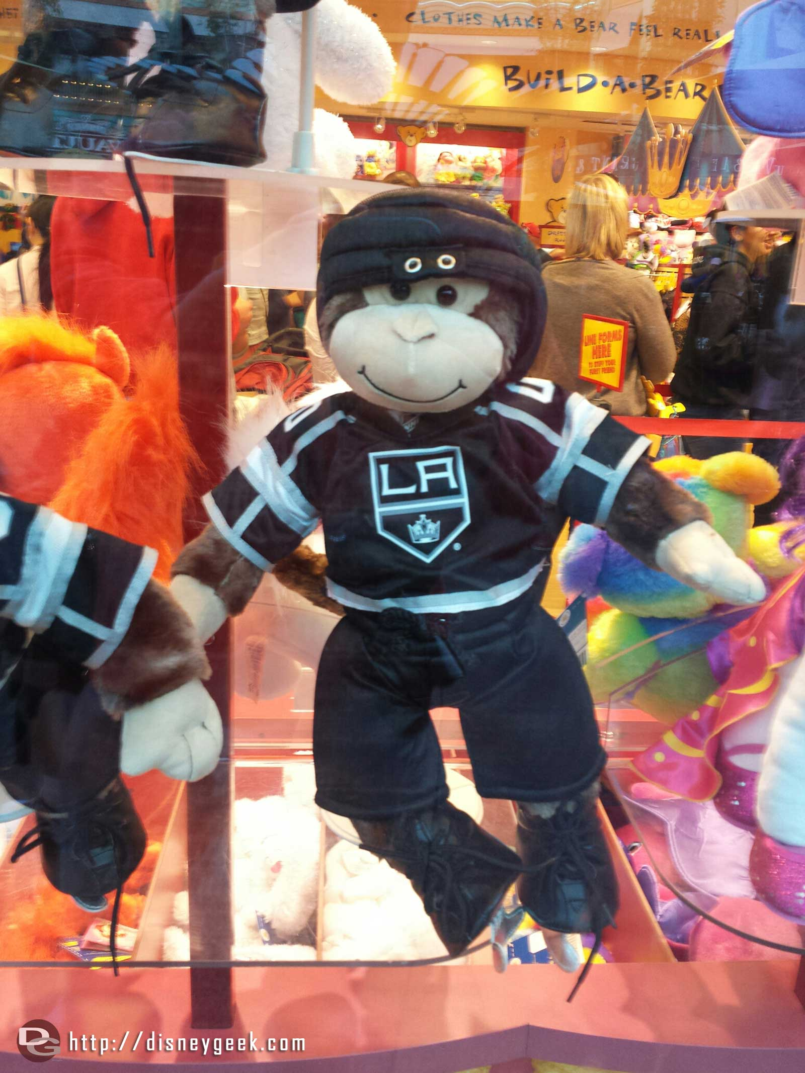 Build-a-Bear supporting the LA Kings with a monkey