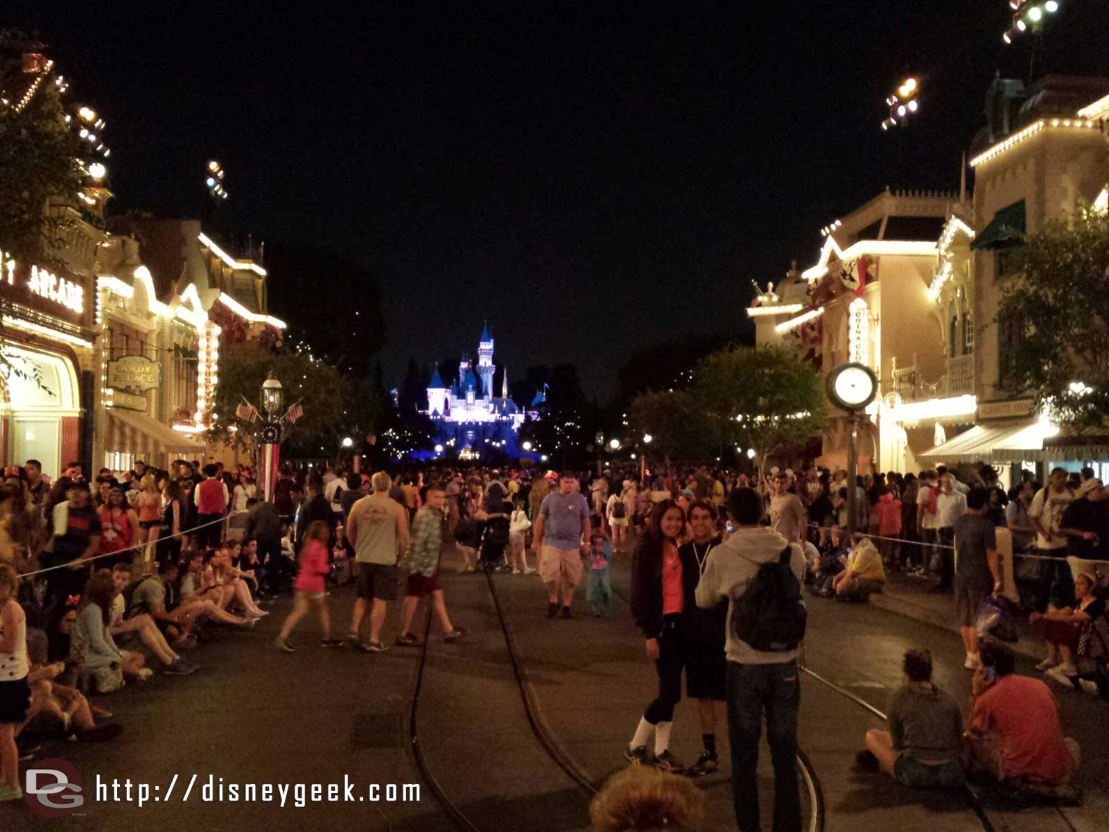 Main Street… Not sure if it is a light crowd or the possible cancellation announcement but its not crowded