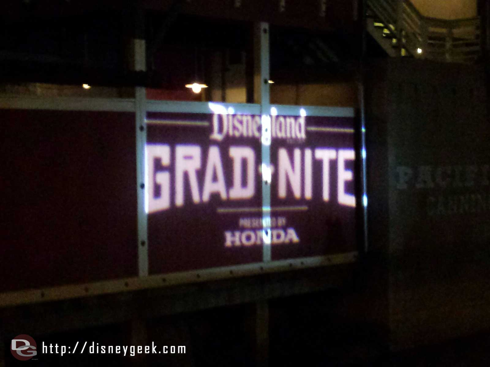 #Gradnite was taking over Disney California Adventure as I left.