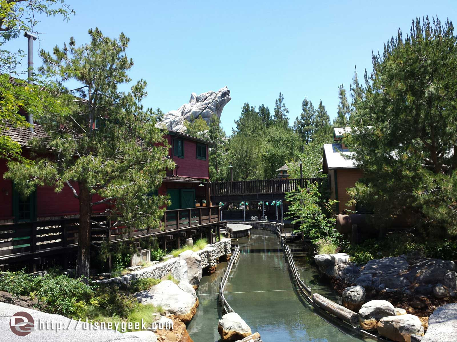 Grizzly River Run reopens next week.  This week some water in the flume.
