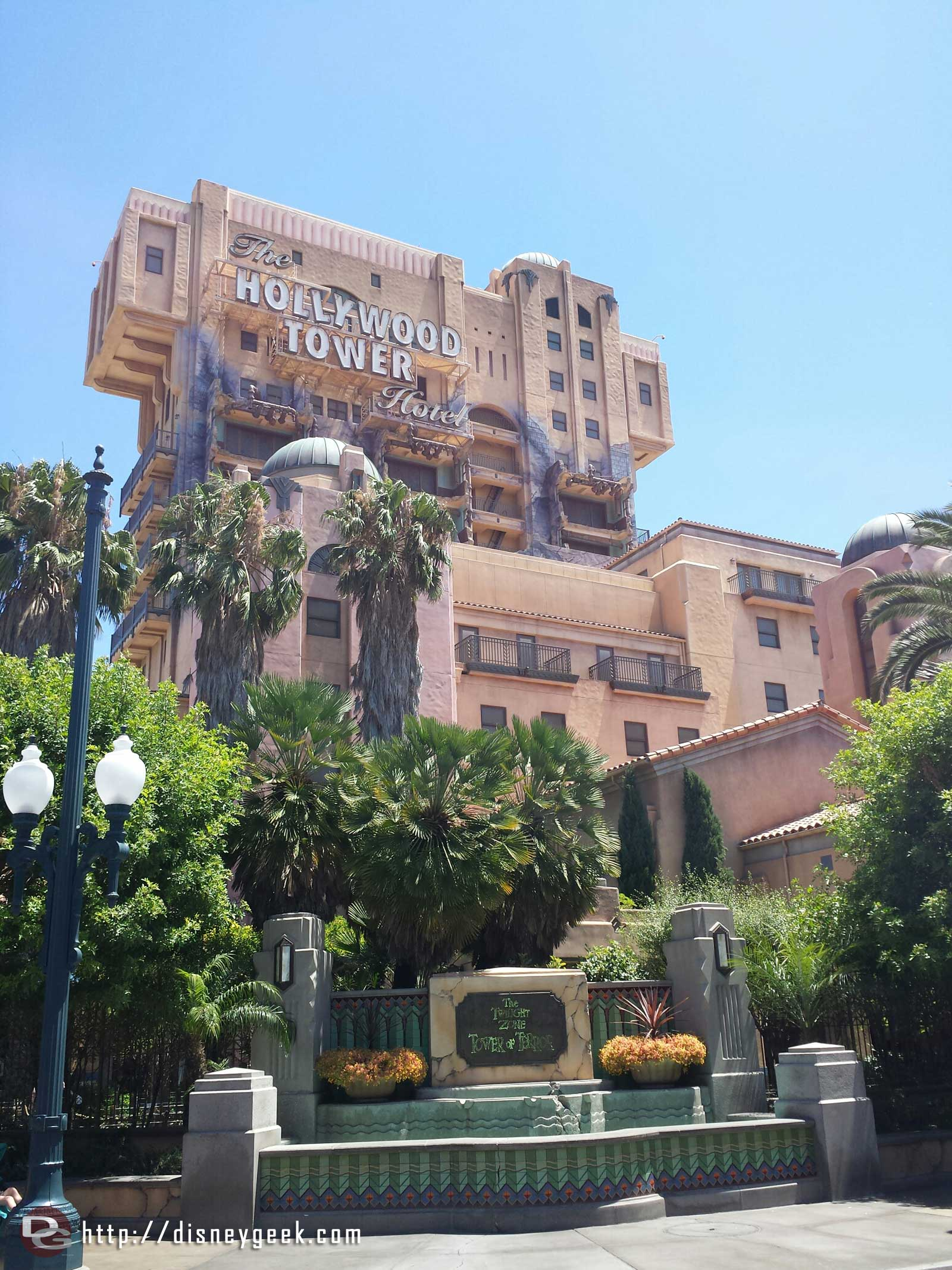The Twilight Zone Tower of Terror @ Disney California Adventure