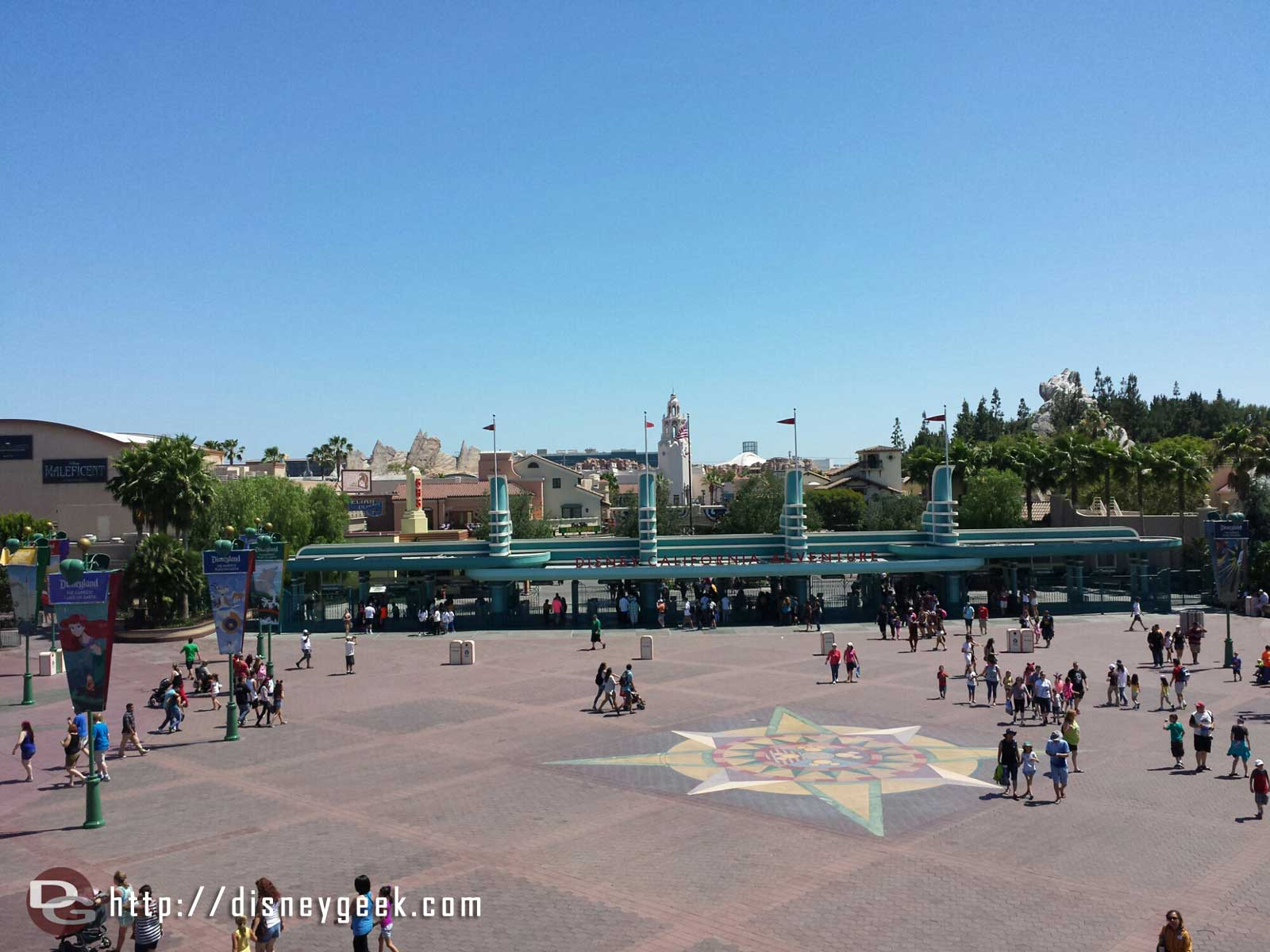 Disney California Adventure entrance from the Monorail
