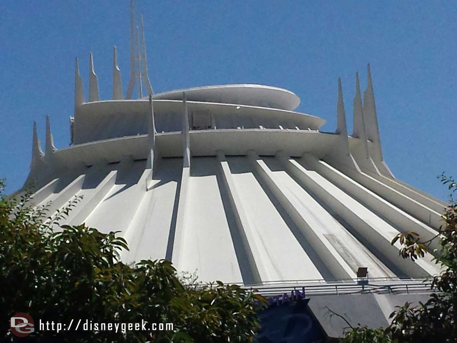 Some of Space Mountain has been cleaned, look on the lower right for comparison