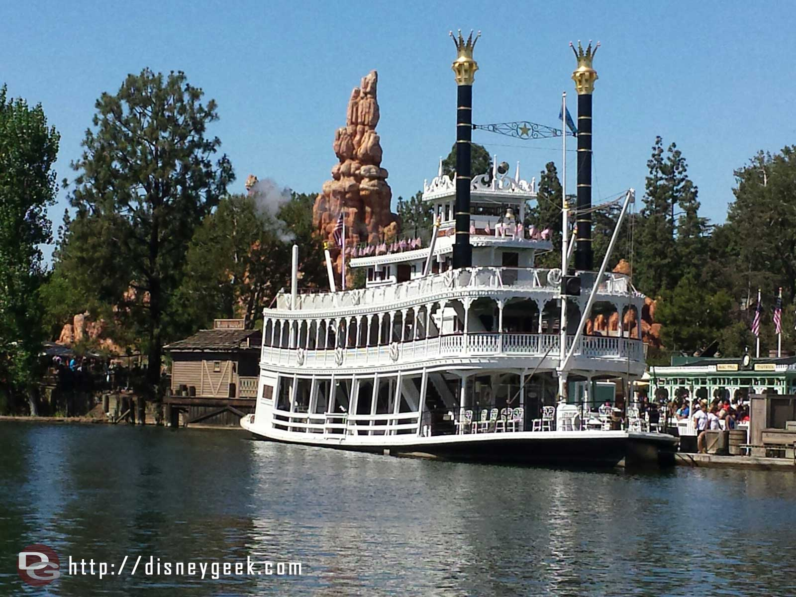 The Mark Twain in port on the Rivers of America #Disneyland