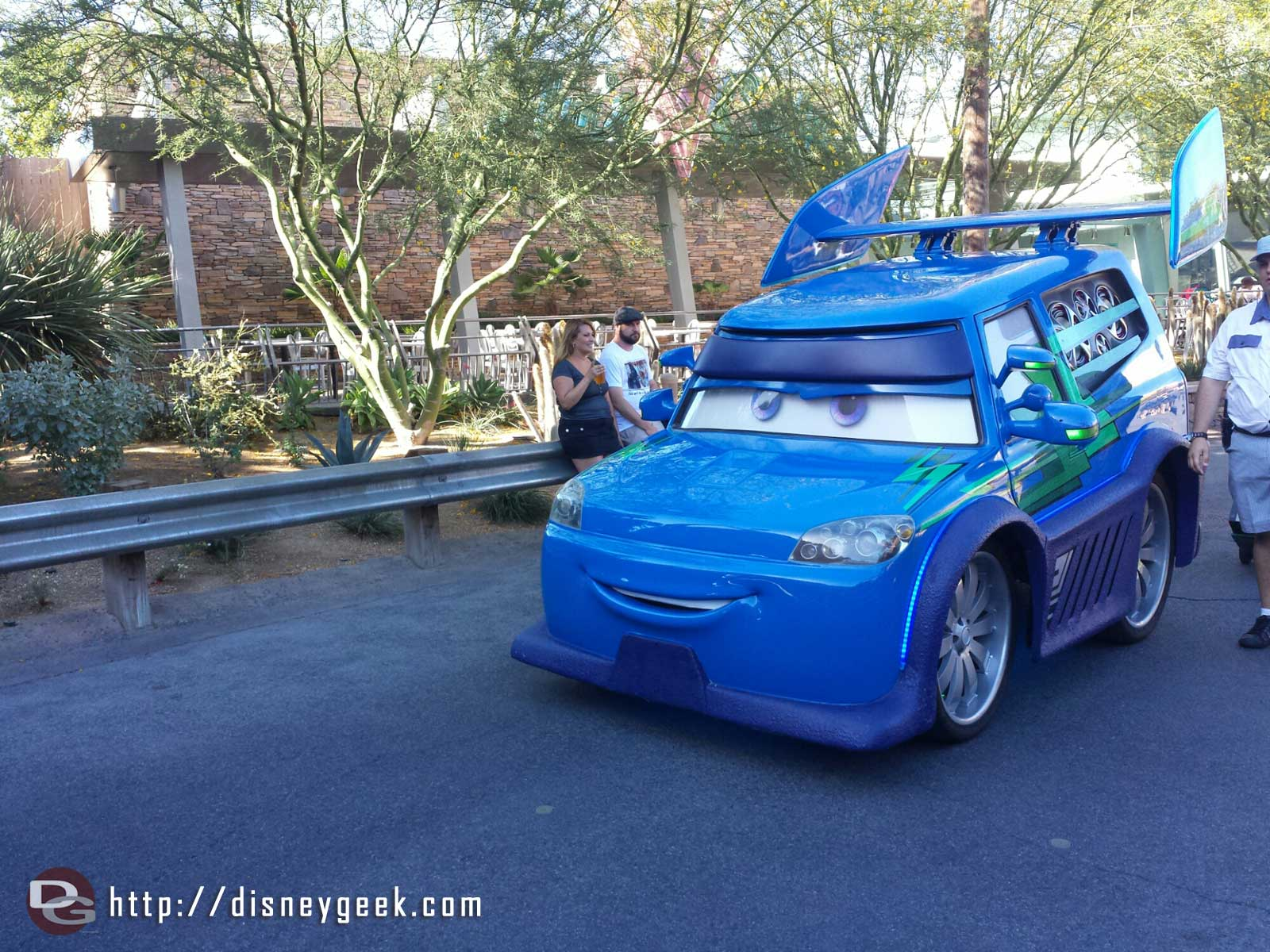 DJ rolling by on Cross Street #CarsLand