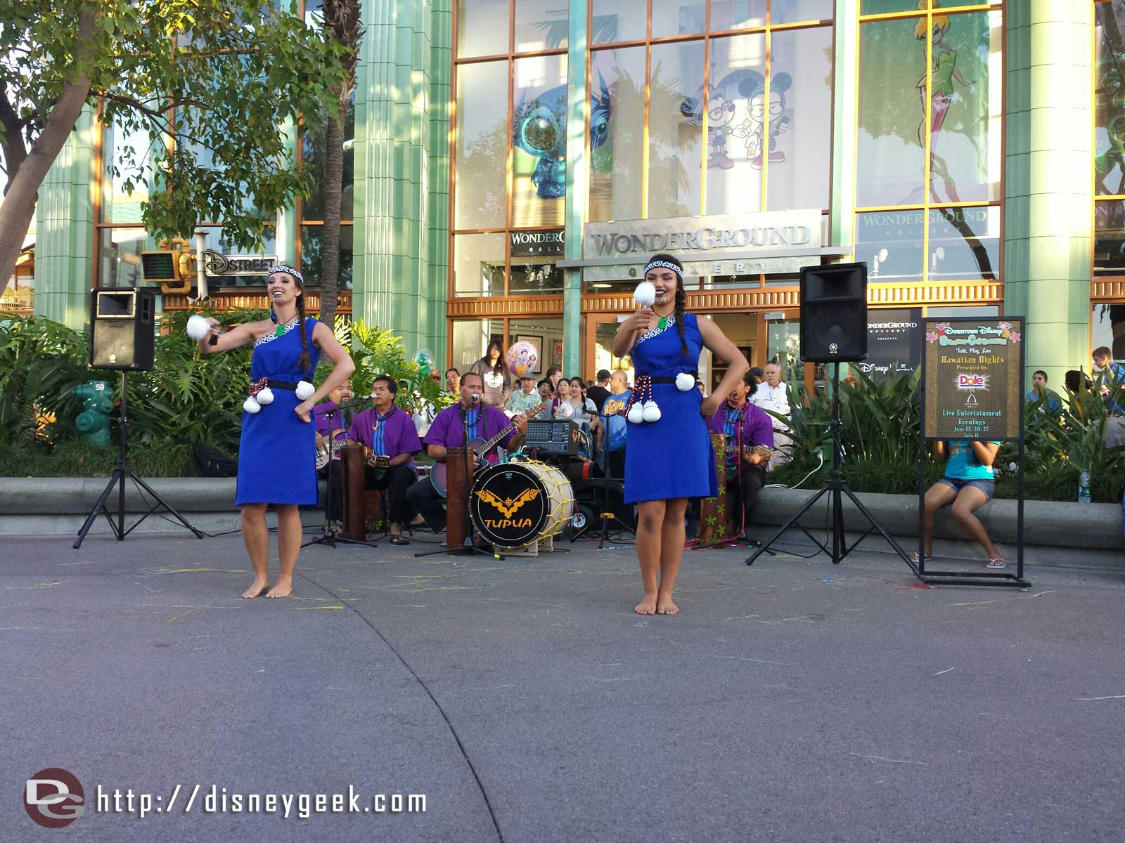 Performing a dance from New Zealand at Hawaiian nights at Downtown Disney