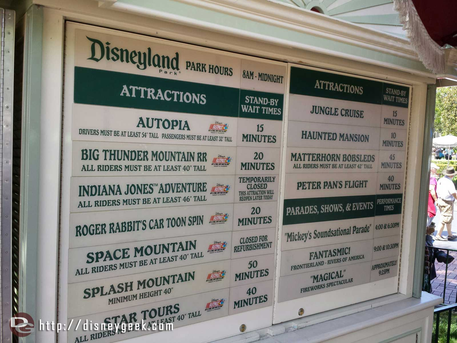 #Disneyland wait times at 2:38pm