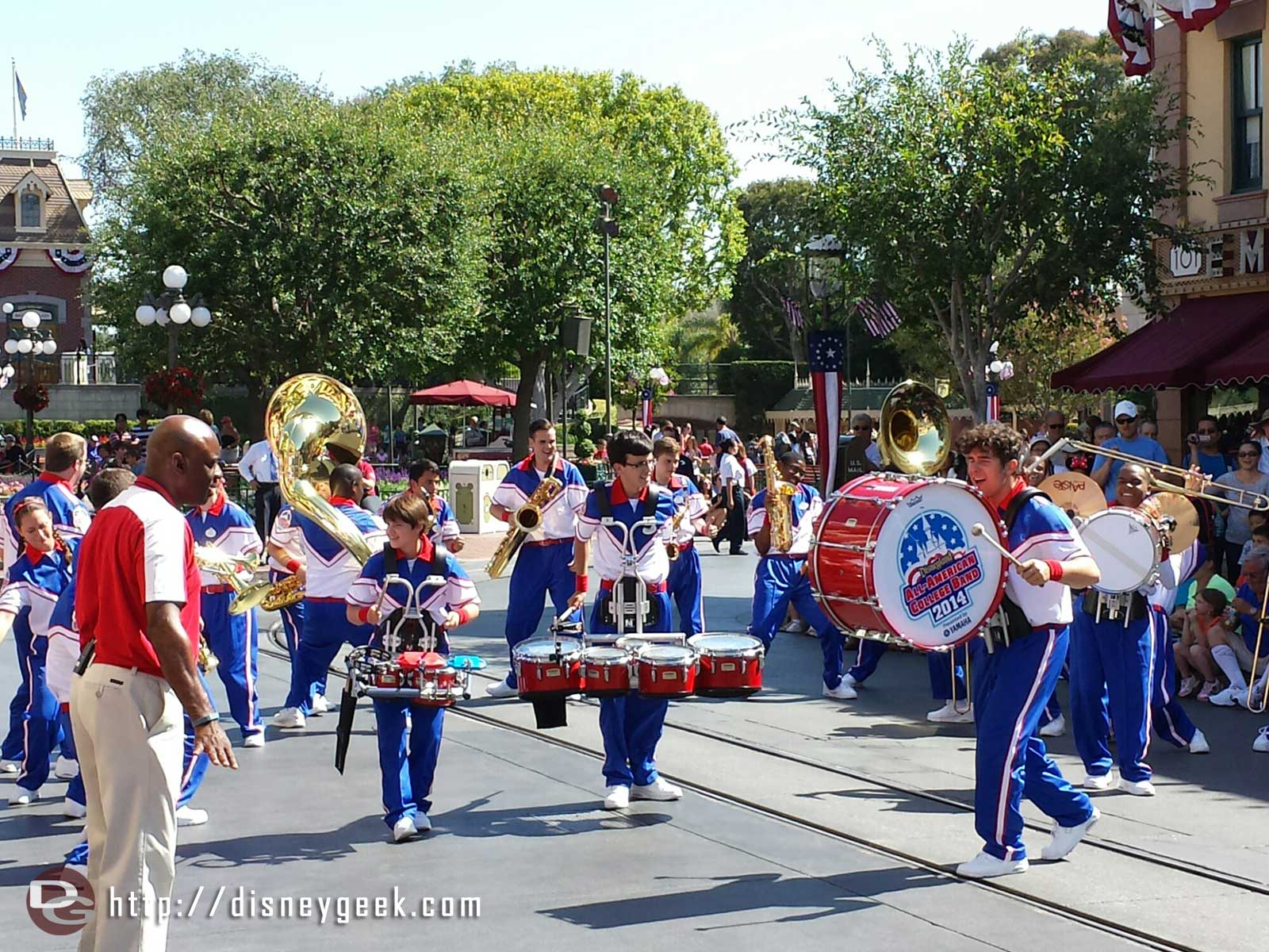 2014 All American College Band performing on Main Street USA