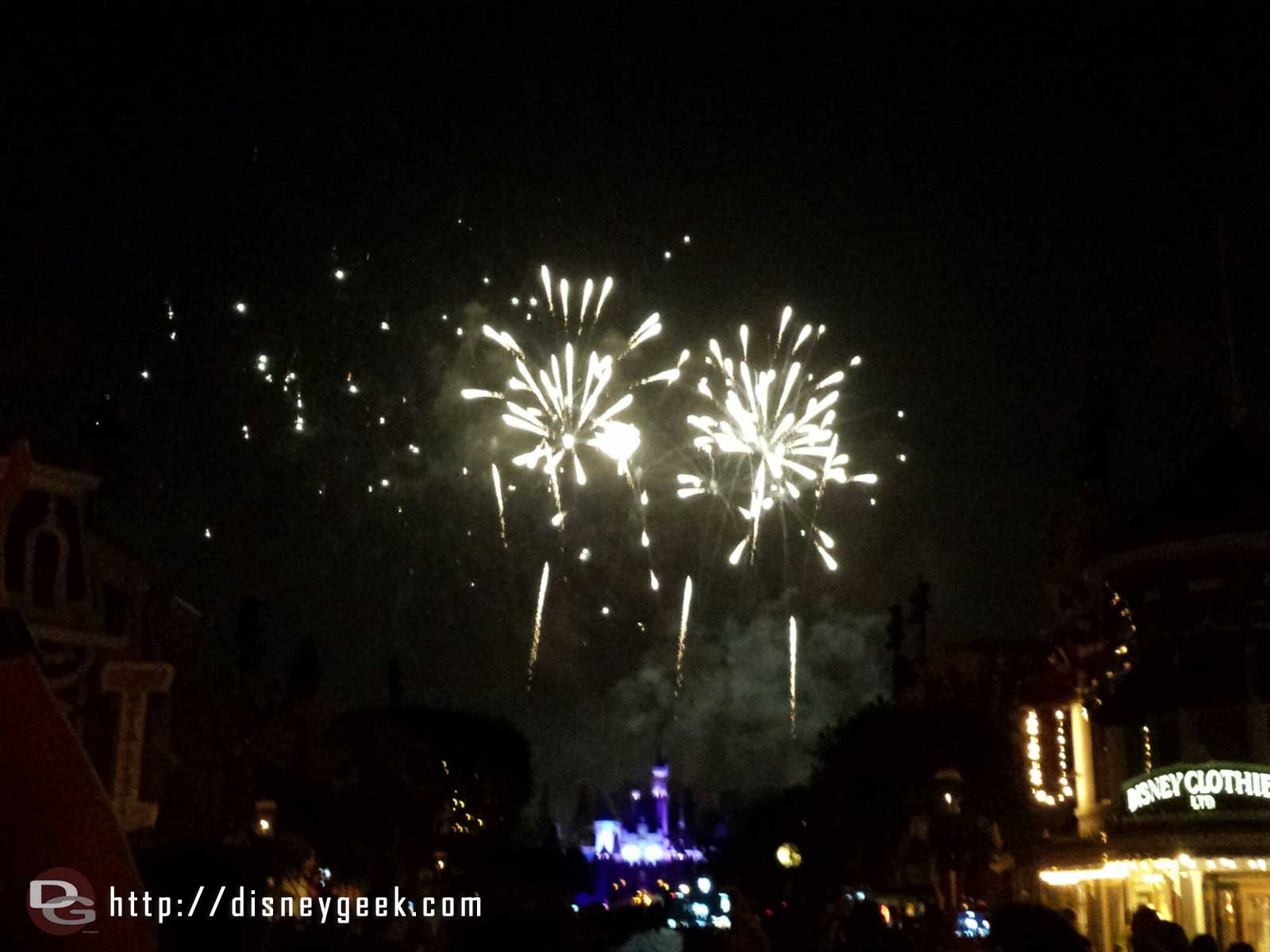 No sign of Tinkerbell during the beginning of Magical this evening