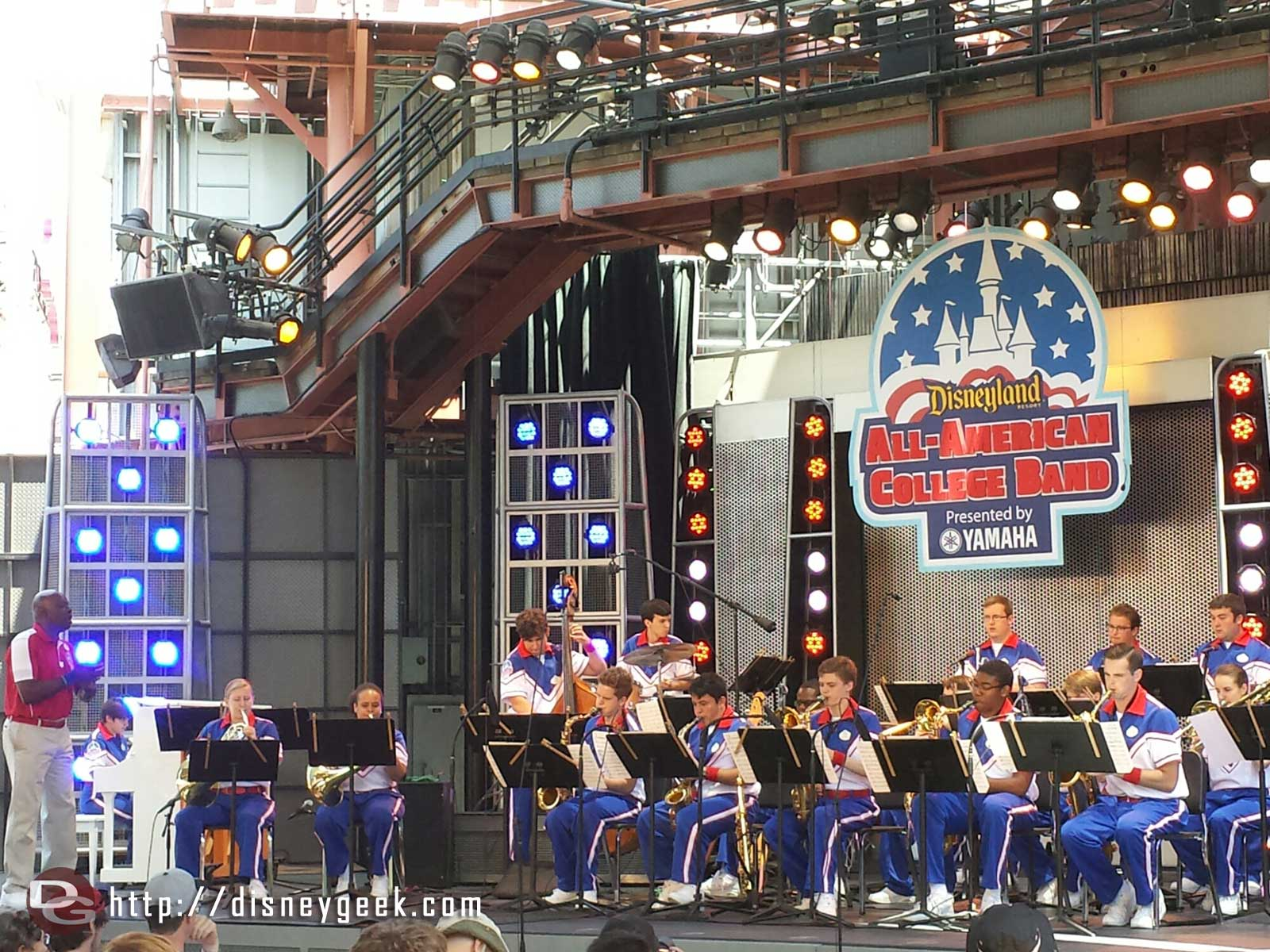 #Disneyland All-American College Band performing on the Hollywood Backlot Stage at Disney California Adventure