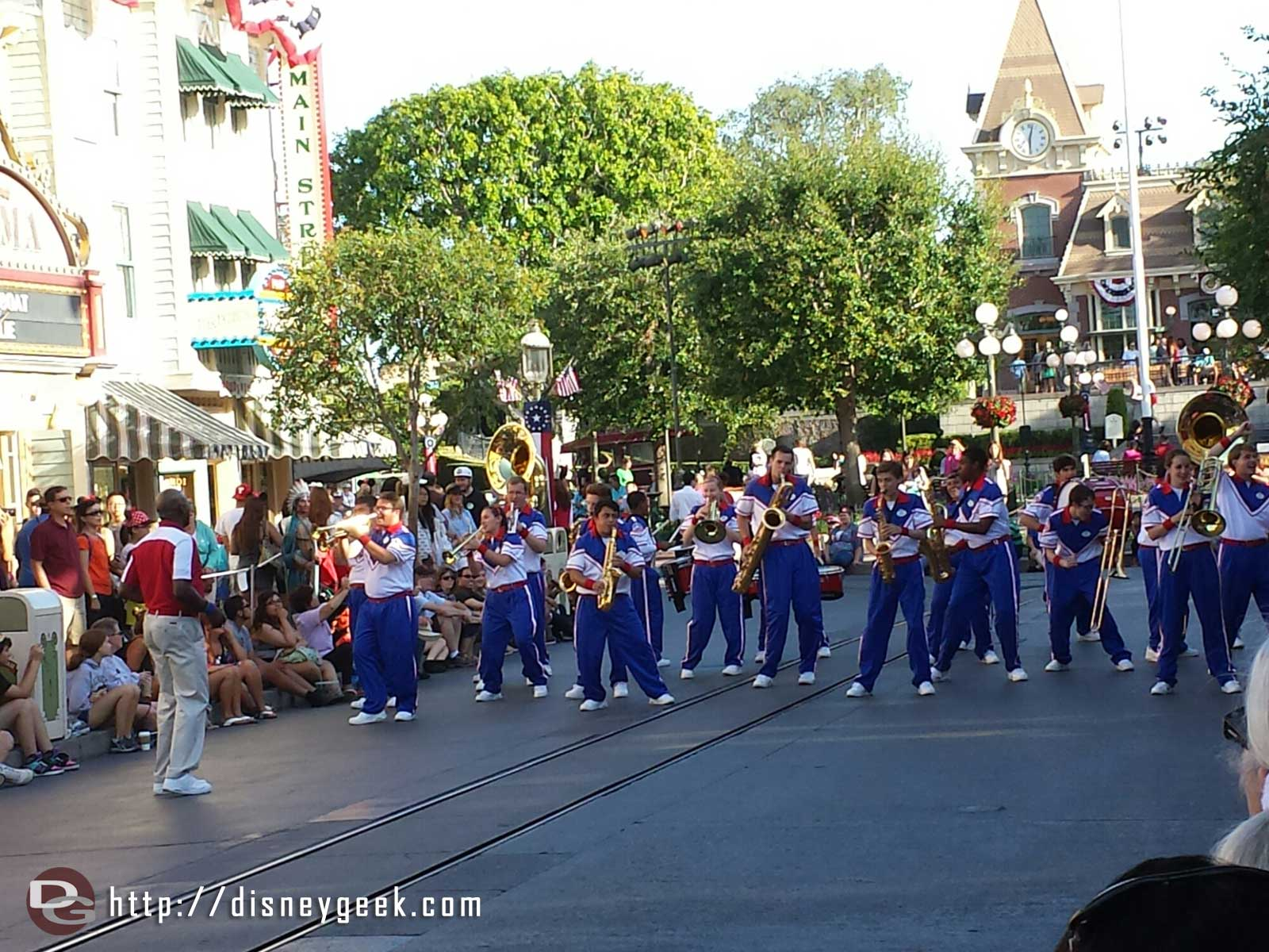 #Disneyland 2014 All-American College Band on Main Street USA